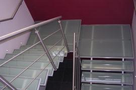 Glazen trap met dubbele middenboom